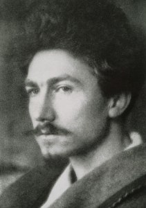 As an expatriate editor for several American literary magazines in London, Ezra Pound was a significant figure in the early modernist movement during the early 20th century. As a poet, he developed Imagism which was inspired by Chinese and Japanese poetry.