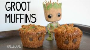 Well, these are just muffins with eyes in them. And they're uneven for Groot's hair. So cute.