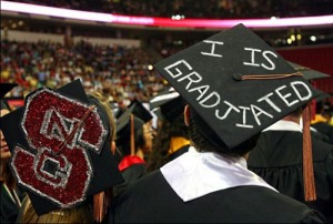 "However, you'd think a graduate from NC State would know how to use proper grammar. It's ""I am"" not ""I is."""