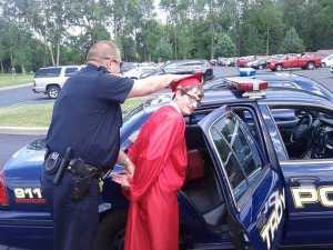 But at least the cops were nice enough to wait and let him graduate before taking him. You have to respect that at least.
