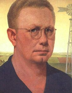He may not look very remarkable but this Grant Wood who brought you American Gothic which as become an iconic painting of 20th century America. You've probably seen it.