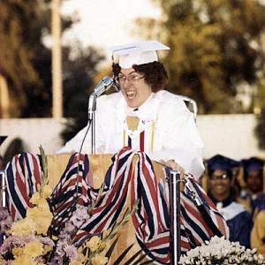 Hey, that's Weird Al Yankovic giving his valedictorian speech. And yes, he's as weird now as he was then. But he's one of the most successful musical comedy artists of all time.