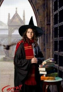 Yes, she's more obsessed Harry Potter than most people. And this is coming from a woman who dressed as Hermione Granger for Halloween in college.