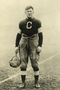 While Jim Thorpe won his gold medals in the 1912 Olympics, he was soon stripped of them not because of steroid use, but because he earned money playing baseball. Also, I think being Native American might have something to do with it.