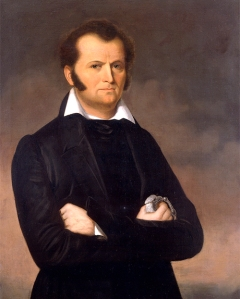 Sure Jim Bowie may not be as well known as Davy Crockett, but he's still an awesome legend in his own right as a fighter and frontiersman with a big ass knife that bears his name. Not to mention, but there's considerable evidence that he died as the real hero of the Alamo while fighting Mexicans in his bed.