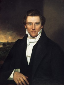 Though Joseph Smith would found the Mormon Church which would eventually have 15 million members. However, he was killed by a mob while in jail before the Mormons got to Utah. So that is why he's on for Vermont.