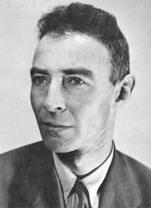 "When the first atomic bomb was detonated on July 16, 1945 during the Trinity test in New Mexico, J. Robert Oppenheimer remarked later that it reminded him of the words from the Bhagavad Gita: ""Now I am become Death, the destroyer of worlds."" After the atom bomb drops on Japan, he'd later feel that he had blood on his hands."
