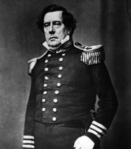 No, this isn't the guy who played Chandler from Friends. This is Commodore Matthew Perry who played a leading role in the opening of Japan in the 1850s. Also played a key role in modernizing the US Navy.