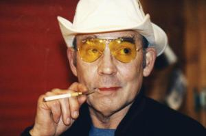 """I was a seeker, a mover, a malcontent, and at times a stupid hell-raiser. I was never idle long enough to do much thinking, but I felt somehow that my instincts were right."" And yes, that's the real Hunter S. Thompson. I'm sure you were expecting Johnny Depp."