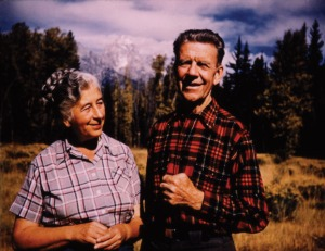 Here's Margaret Murie with her husband who was also active in the campaign to protect what is now Arctic National Wildlife Refuge. I hope their ghosts haunt anyone who intends to drill there because it's a place that should be protected for everyone.