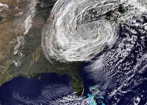 This is Sandy and no, she's not on her way for a friendly visit. She's a major hurricane that wreaked mass destruction on the East Coast. While the science isn't settled whether climate change makes hurricanes more frequent, it is established that it makes hurricanes stronger and more severe. So if you live on the coast or in Florida, expect more hurricanes like Sandy.
