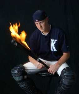 I don't think you'd want a burning bat. Because it's not a bat. It's a torch.