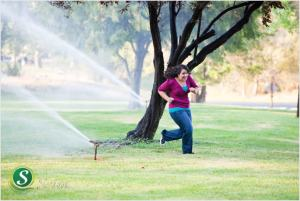 """Apparently, they didn't get the memo that the country club would be running the sprinkler system that day. In my area, we have a kind of sprinkler system called, """"rain."""""""