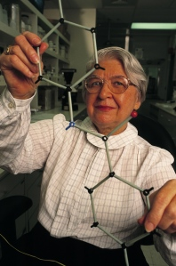 No, this isn't Mrs. Doubtfire doing science. This is DuPont chemist Stephanie Kwolek who invented a family of exceptionally strong synthetic fibers called Kelvar. So who says women can't invent anything?