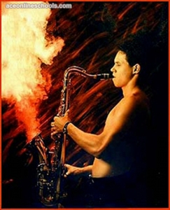 However, it makes you wonder what kind of explosives he put in his saxophone. Because saxes normally don't work that way.