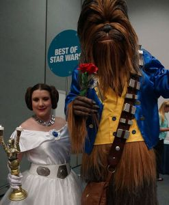 Well, if you imagine Belle as Princess Leia and Chewie as the Beast. Like how they have C-3PO as Lumiere. Brilliant.