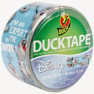 Yeah, I have no idea why they have this. It doesn't seem to make much sense. I mean it's duck tape. Everyone buys it plain.