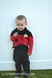 Well, at least that outfit's from The Next Generation. Because if it was a redshirt from the original series, I'd have a problem. Still, so cute.