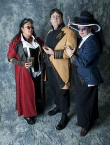 These are Starfleet Steampunk uniforms. And yes, they look kind of cool if you ask me.