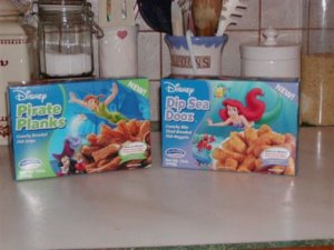 Uh, isn't Ariel part fish? And she's on the package to sell fish sticks? Do you see a conflict of interest here, people?