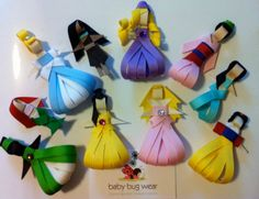 Instead of wearing ribbons, these princesses are ribbons. And I assure you girls will love them.