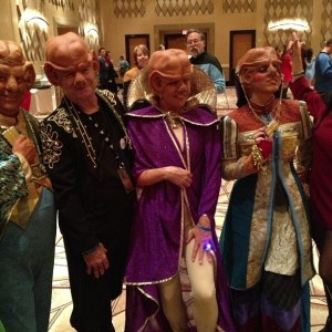 I think this might be from a Star Trek convention in Las Vegas. It's a place I think Ferengi will feel right at home since they love money.