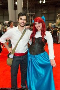 And yet, this is another of Ariel's wardrobe changes. Still, you have to admire Prince Eric's patience with her. Then again, I think his servant seems to be the only guy who has a clue.