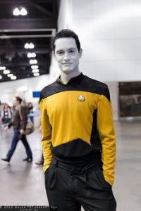 Sure Data might be an android who admires humanity. But he's such a loveable guy that you can't help but like him. This one's not bad looking, too.