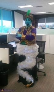 I know Genie wasn't dressed up like that in Aladdin. But I have to admit, this is a really cool costume. This guy definitely deserves to win his Halloween costume contest at work.