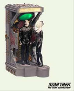 Because nothing depicts the joy of Christmas like a beloved Star Trek captain being kidnapped and changed into a mindless cyborg killing machine. Seriously, Hallmark, this is really fucked up.