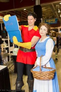 He also doesn't have a clue that Belle isn't interested in him. Seriously, Gaston, you have groupies. Marry one of them.
