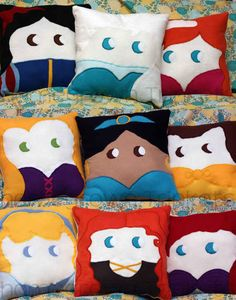 Only includes 9 of them. But each is made in the same style with hair and eyes.