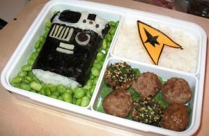 Well, a sushi tricorder, some meat balls, and an American cheese Starfleet insignia. Still, that tricorder looks like a work of art.
