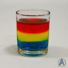 Well, for adults 21+ anyway if they contain alcohol. But it consists of colors you'd find on the Starfleet uniforms.