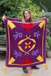 Because she's the magic carpet from Aladdin. And she seemed to have made it herself according to the pattern.