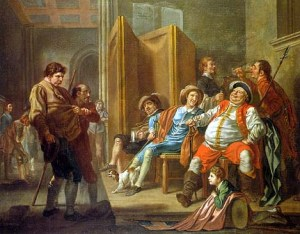 "Falstaff: ""It was always yet the trick of our English nation, if they have a good thing, to make it too common."" - Act I, Scene 2"