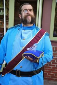 Well, the duke is thinner in Cinderella. But he sports the same mutton chops.
