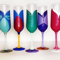 Well, there are only 5 in this set. Yet, each of them have glitter. And I'm sure they're not for drinking.