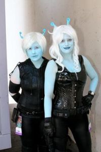 I guess those are what the Andorians normally wear. Seems to go well with their complexions.