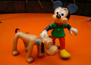 Pluto doesn't look so good. Wonder what's wrong with him. Hope Mickey doesn't have to have him put down.
