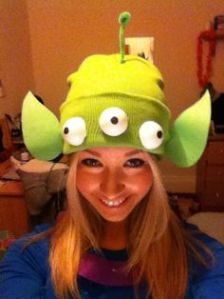 This is from those little green aliens from the Toy Story series. They're weird little things but adorable and funny.