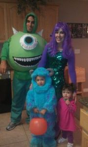 Guess we have here Mike, Sulley, Mike's girlfriend with the Medusa hair, and Boo. Still, such a good movie, but not to the degree of Toy Story.