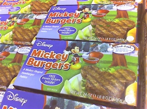 Just what I want, burgers in the shape of a mouse head. Then again, they might have more meat on them. But they might not turn right grilled.