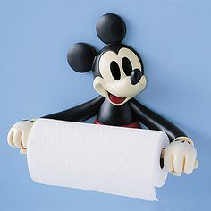Yes, this is a Mickey Mouse toilet paper holder. Now if only they had Mickey Mouse toilet paper.