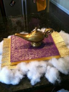 For some reason, there don't seem to be a lot of Aladdin craft projects on Pinterest. Not sure why.