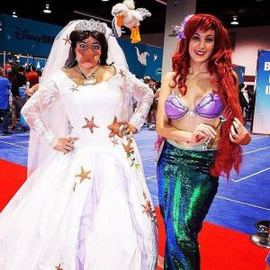 That's one of Ursula being covered in starfish when she's about to marry Eric. Now that's just priceless and very creative.