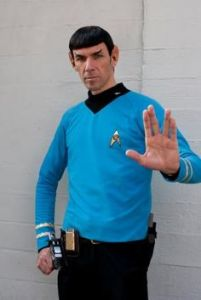 Yes, that's Spock all right. He's one of the most popular characters in the franchise. Leonard Nimoy will sure be missed.