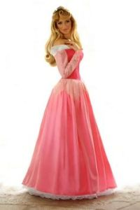 This is Princess Aurora in her pink dress. Yes, it's beautiful but she spends more screen time in the blue one. Just saying.