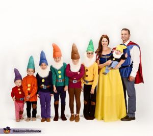 I know this is more of a stock photo. But I'm including it anyway since it has all the costumes of the 7 dwarfs.