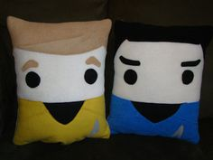 Yes, Kirk and Spock have gotten the felt treatment. Other Star Trek characters received it as well according to Etsy.
